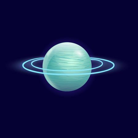 uranus: Beautiful Uranus planet vector, Abstract background Illustration
