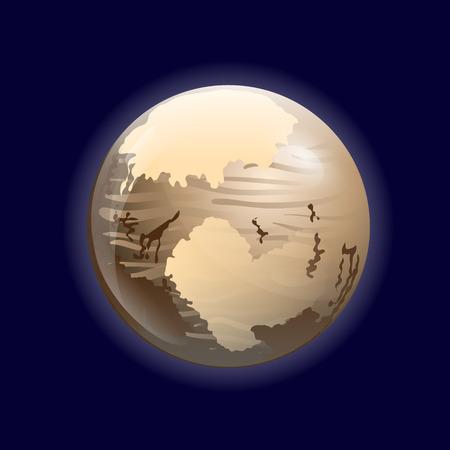 pluto: Pluto planet Illustration