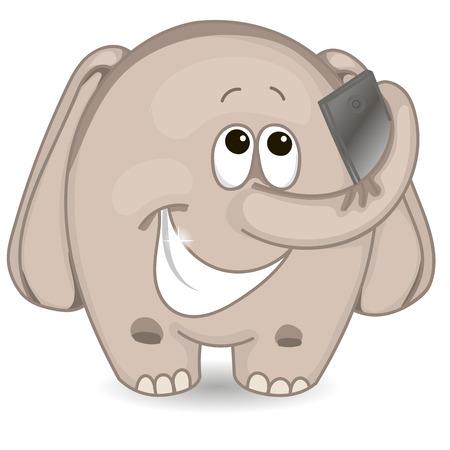 tusks: Elephant makes selfie Illustration