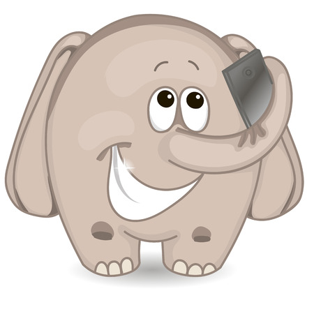 Elephant makes selfie Illustration