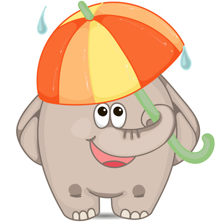 shrank: Elephant with umbrella