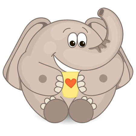 tusks: Elephant with a cup Illustration