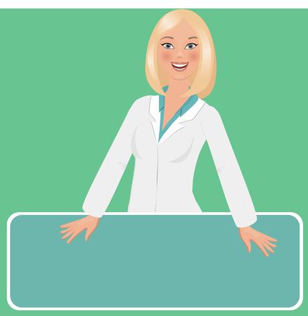 Pharmacist vector illustration.