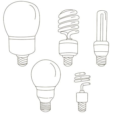 light bulbs: Light bulbs. Bulb icon set
