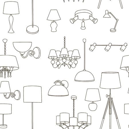 lampes de motif d'éclairage de la maison, lampadaires, lampes murales.