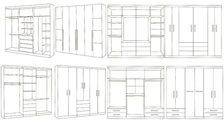 habiliment: Hand drawn wardrobe