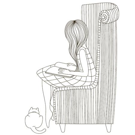 Meisje in een stoel