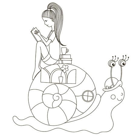 cochlea: Girl reading a book in the cochlea.