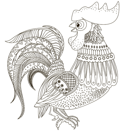 graphical: Rooster in graphical style Illustration