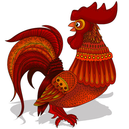 happy new years: Cheerful illustration of cartoon Rooster