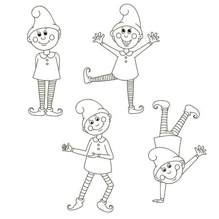 Set funny gnomes.