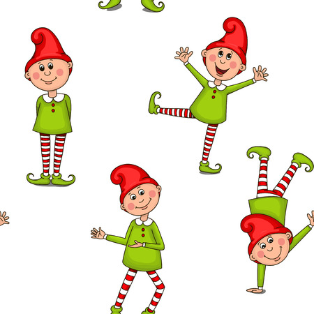 Pattern funny gnomes.