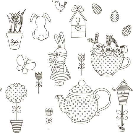 Isolated objects on a white background. The background color can be changed. Drawn by hand. Suitable for printing on paper or cloth.