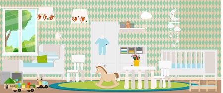 어린이 방의 유행 디자인. 벡터 일러스트입니다.