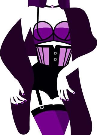 Frau in der sexy Unterwäsche . Vektor-Illustration