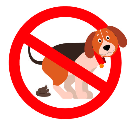 A croaking dog. Sign on the prohibition of dog walking.