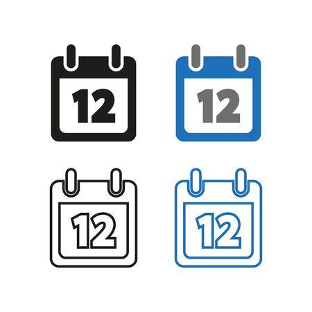 Calendar icon. Simple vector illustration. Ilustracja