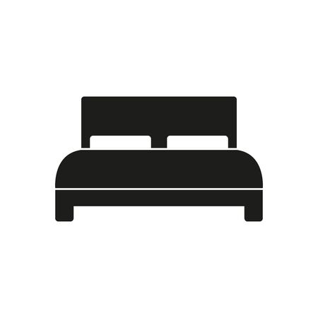 Double bed icon. Simple vector illustration. Vektoros illusztráció