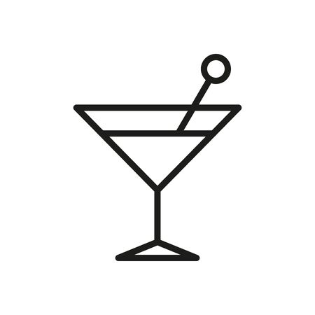 Drink glass icon. Simple linear vector illustration.