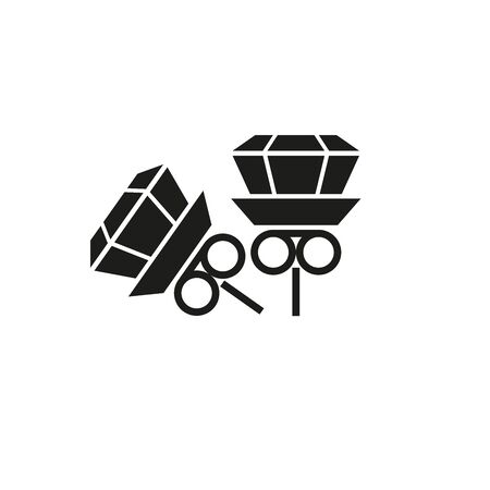 Jewelry icon. Stud earrings. Web design. Simple vector illustration on a white background.