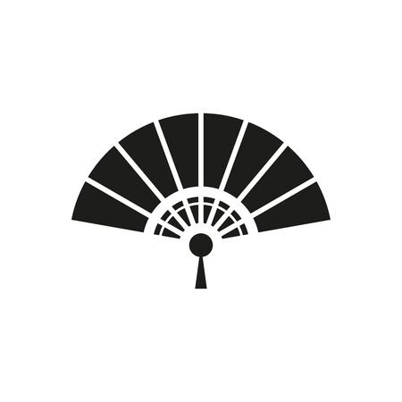 The fan icon. Simple vector illustration on a white background.