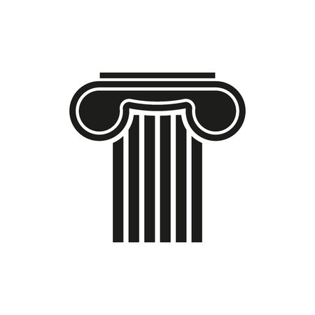 Icon of an ancient column. Simple vector illustration on a white background. Vector Illustratie