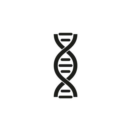 DNA icon. Simple vector illustration on a white background. Vettoriali