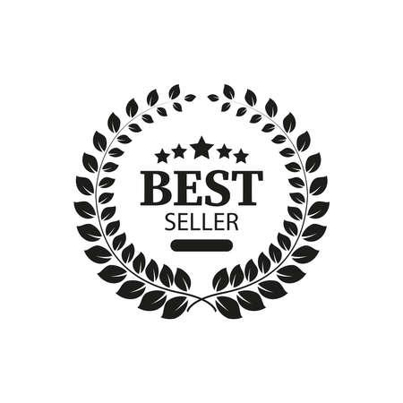 Icon of the bestseller. Simple vector illustration on a white background. Illusztráció