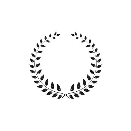 Wreath icon. Simple vector illustration on a white background.