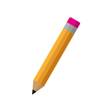 The pencil icon. Simple vector illustration on a white background.