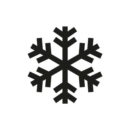 The snowflake icon. Simple vector illustration on a white background.