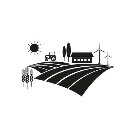 The icon of the farm. Simple vector illustration on a white background. 免版税图像 - 156944830
