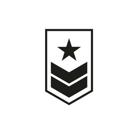 Chevron icon. Military rank. Simple vector illustration on a white background.