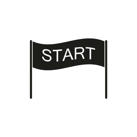 Start icon. Simple vector illustration on a white background.