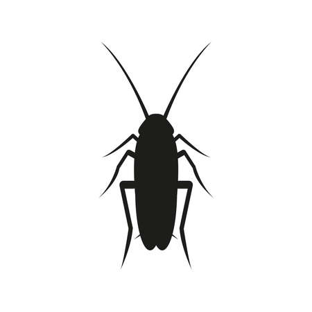 Icon of a cockroach. Simple vector illustration on a white background.