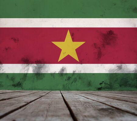 Suriname flag.