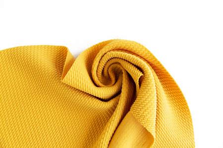 Dense yellow fabric coiled texture Standard-Bild