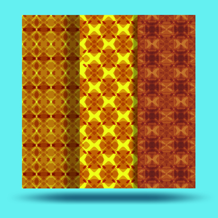 Bright seamless pattern background.Beautiful and noticeable. The combination of yellow and brown. 矢量图像