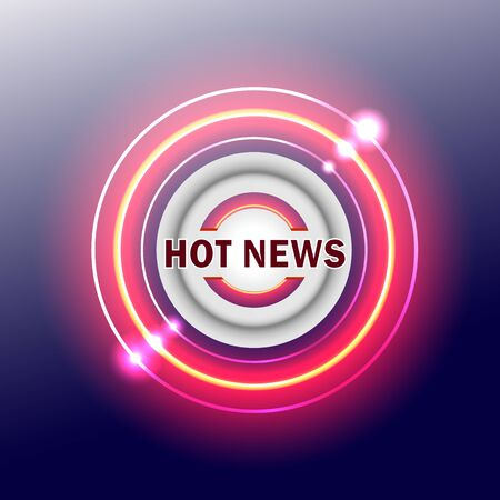 modern red breaking news sign