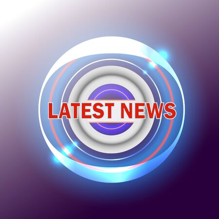 The latest news. Inscription. Button, banner for the site, articles. Bright, eye-catching. Latest news, vector sign illustration new modern label design. Business advertising web icons, promotion, sticker, announcement. 矢量图像
