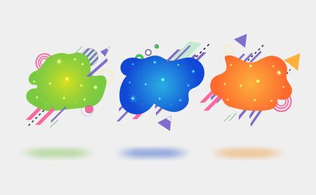 A modern set of abstract amoebic banners. Vector banner template. Template for use in web or print design.