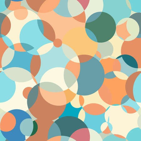 Circles pattern abstraction. Contemporary color palette. Great background for a screensaver. Interesting background for fabric. Circular colored spots. Suitable for any printed matter. Vector Illustratie