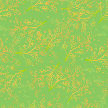 Gold pattern. Beautiful shiny, golden flowers on a green background. Background for different purposes invitations, cards, backgrounds, fabrics.
