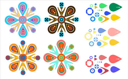 Ornament colored element. Constructor for the designer. A beautiful and bright piece for creativity. A beautiful combination of color and shape.