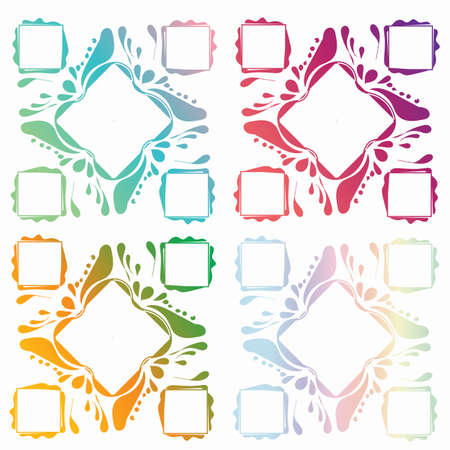 Set with gradient frames. Beautiful colors and shapes of frames.