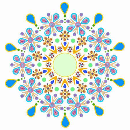 Kaleidoscope mandala. Vector floral pattern background. Modern banner design template, vector illustration. Vector colorful mosaic