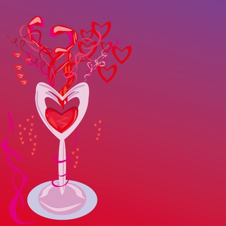 indulgence: Love glass. Illustration.