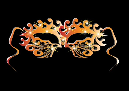 firework display: abstract isolated carnival mask. Illustration