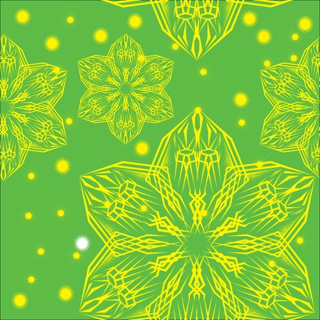abstract pattern witn flowers. illustration Stock Vector - 10870215