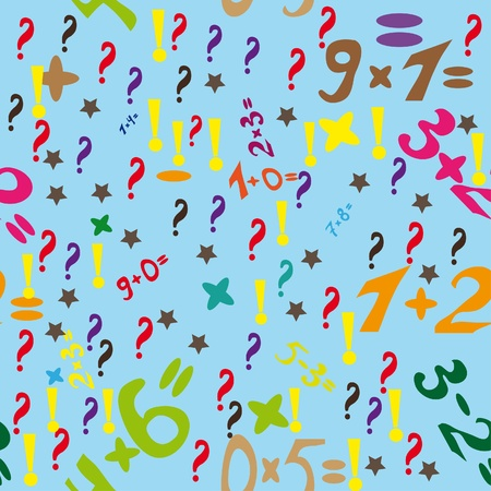 Abstract vector background with numbers Vector
